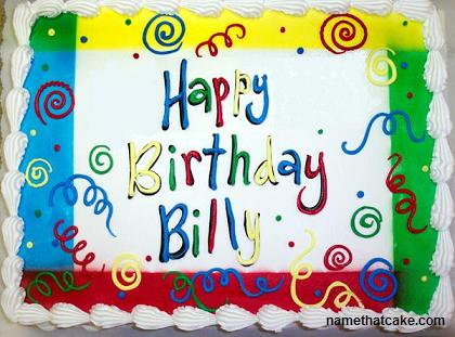 Happy Birthday Billy Cake Images