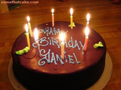 Birthday Cake Images For Daniel : Name That Cake - Send a virtual birthday cake to a friend ...