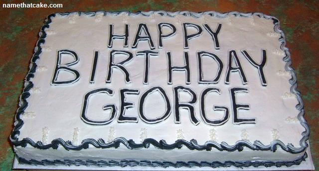 Birthday Cake For George Washington